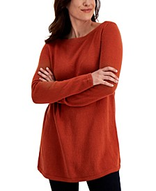 Solid Curved-Hem Tunic Sweater, Created for Macy's