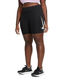 Plus Size Swoosh Running Shorts