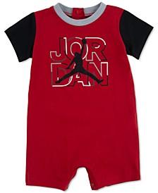 Baby Boys Stack Logo Cotton Romper