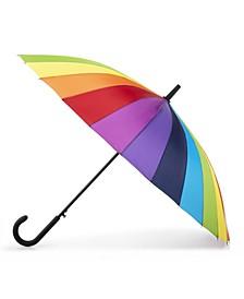 Women's Rainbow Auto-Open Stick Umbrella