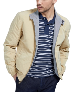 Guess By Marciano Marciano By Guess Men's Reversible Bomber Jacket In Houndstooth Honey