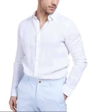 Men's Linen Button-Front Shirt