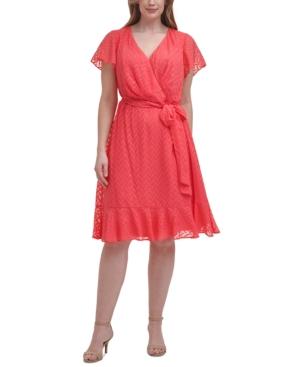 Plus Size Chiffon Faux-Wrap Dress