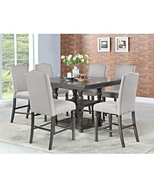 Coralie Dining 7-Pc Set ( Counter Height Table + 6 Side Chairs)