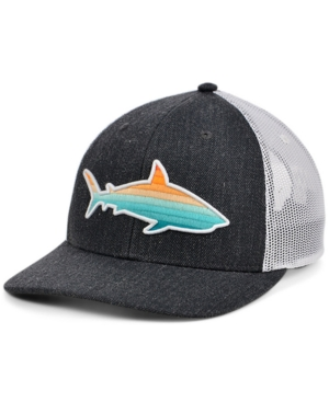 Local Crowns Shark Fish Collection Curved Trucker Cap