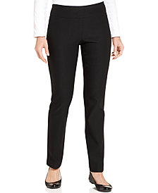 Charter Club Petite Cambridge Tummy-Control Slim-Leg Pants, Created for Macy's