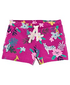 Baby Girls Floral Pull-On French Terry Shorts
