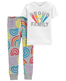 Toddler Boys and Girls Pride Snug Fit Pajama, 2 Piece Set