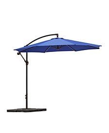 10' Outdoor Patio Cantilever Offset Umbrella with Base Weights