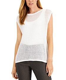 Open-Stitch Sleeveless Sweater, Created for Macy's