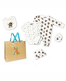 Baby Boys King of Cubs Layette Gift Set in Mesh Bag, 5 Piece