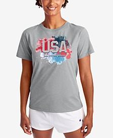 Women's Classic USA-Graphic T-Shirt