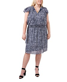Plus Size Smocked Fit & Flare Dress