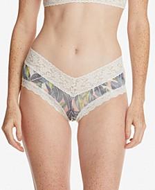 Women's Tropical Leaf V-Front Boy Short