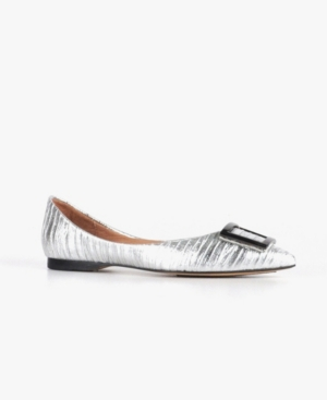 Women's Gathered Fab Buckle Flats Women's Shoes