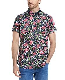 Men's Short Sleeves Multi Color Floral Print Shirt