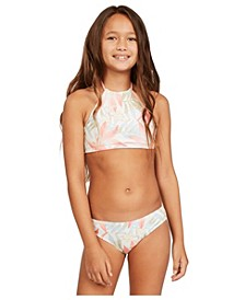 Big Girls Lil Love Palms 2-Piece Bikini Set