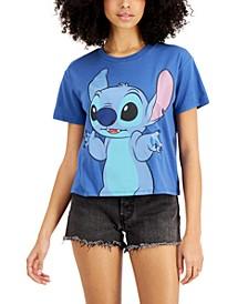Juniors' Lilo & Stitch Cropped T-Shirt