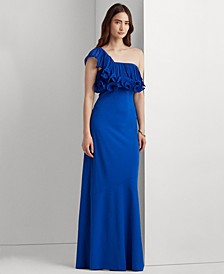 One-Shoulder A-Line Gown