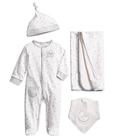 Baby 4-Pc. Cotton Starry Gift Set, Created for Macy's