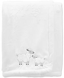 Baby Neutral Lamb Fuzzy Plush Blanket