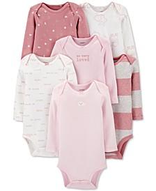 Baby Girls 6-Pack Long-Sleeve Bodysuits
