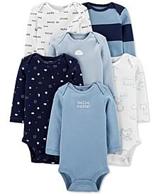 Baby Boys 6-Pack Long-Sleeve Original Bodysuits