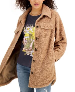 CoffeeShop Juniors' Fleece Shirt Jacket