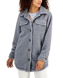 Juniors' Fleece Shirt Jacket
