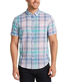 Men's Roadmap Plaid Button-Down Shirt