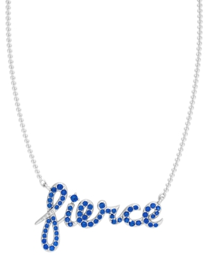 Blue or Pink Sapphire Pave 1/3 ct. t.w. Fierce Necklace in Sterling Silver
