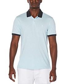 Men's Heathered Polo Shirt