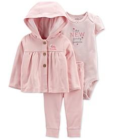 Baby Girls 3-Pc. Little Butterfly Cardigan Set