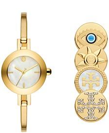 Women's Reva Gold-Tone Stainless Steel Bracelet Watch 26mm Gift Set