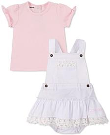 Baby Girls 2-Pc. T-Shirt & Crochet-Trim Skirtall Set