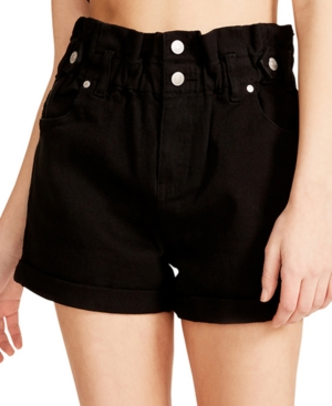 Juniors' Denim Belted Shorts