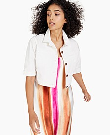 Cropped Elbow-Sleeve Jacket, Created for Macy's