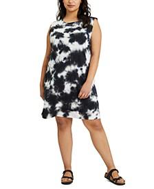 Printed Tie-Dye Sleeveless Dress