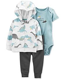 Baby Boys Three-Piece Little Dinosaur Jacket Set