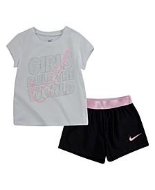 Little Girls T-shirt and Shorts, Set of 2