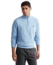 Men's Big & Tall Luxury Jersey Quarter-Zip Pullover