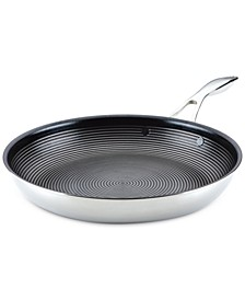 SteelShield C-Series Tri-Ply Clad Nonstick Frying Pan, 12.5-Inch, Silver