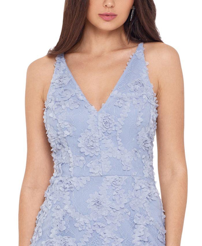XSCAPE Lace Midi Dress & Reviews - Dresses - Women - Macy's