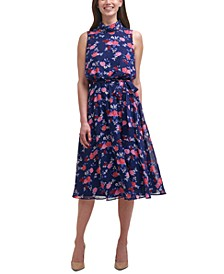 Sleeveless Roll-Neck Midi Dress