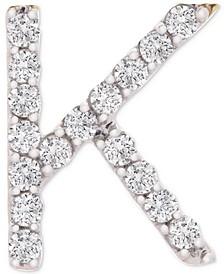 Diamond Initial K Single Stud Earring (1/20 ct. t.w.) in 14k Gold, Created for Macy's