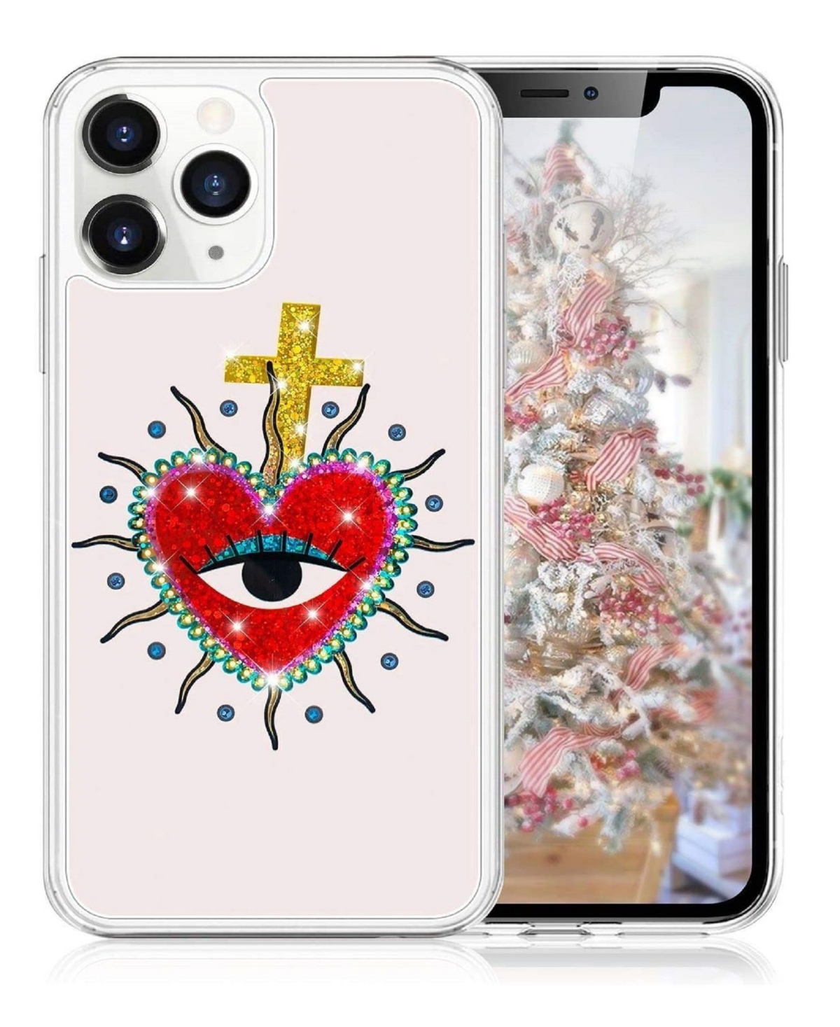 Milanblocks iPhone 11 Pro Max Heart Glitter Phone Case