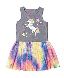 Little Girls All Over Print Tutu Tank Dress