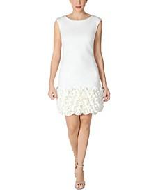 Ruffled-Hem Sheath Dress