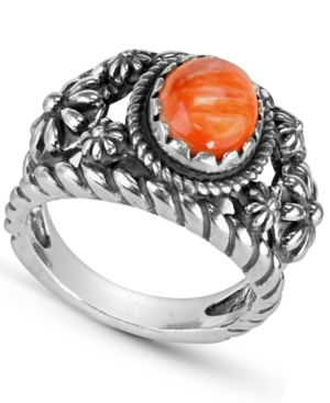 by Carolyn Pollack Sterling Silver Gemstone Ring in Charoite