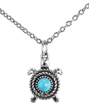 by Carolyn Pollack Turquoise Gemstone Turtle Necklace in Sterling Silver